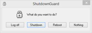 Утилита ShutdownGuard