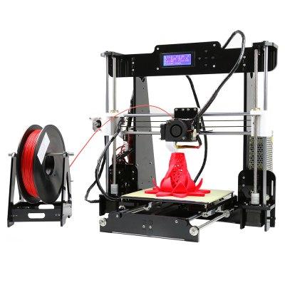 A8 Desktop 3D принтер Prusa i3 DIY Kit - ЕС ПРОБКА ЧЕРНЫЙ