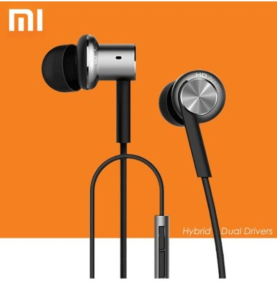 Original Xiaomi Hybrid Dual Drivers Earphones Mi IV In-Ear Headphones Pro  -  SILVER