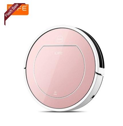 ILIFE V7S Smart Robotic Vacuum Cleaner  -  ROSE GOLD