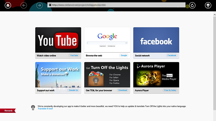 Turn Off the Lights – браузер для просмотра видео с YouTube
