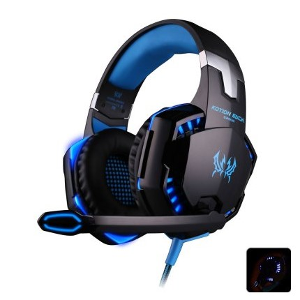 EACH G2000 USB and Audio Jack Dual Input Gaming Headset Stereo Headphone Sound